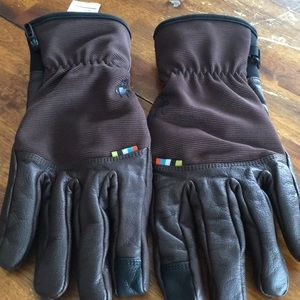 Leather Smartwool gloves